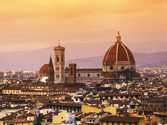 Italy, Florence, Tuscany, Western Europe, 'Duomo' Designed by Famed Italian Architect Brunelleschi,-Ken Scicluna-Photographic Print