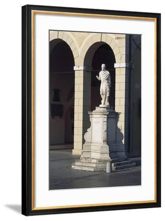 Italy, Friuli-Venezia Giulia, Palmanova, Piazza Grande, Statue of Provveditore Marcantonio Barbaro--Framed Giclee Print