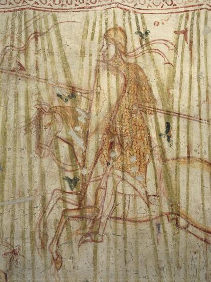 Italy, Friuli Venezia Giulia Region, Aquileia, Cathedral, Crypt, Fresco with Knight--Giclee Print