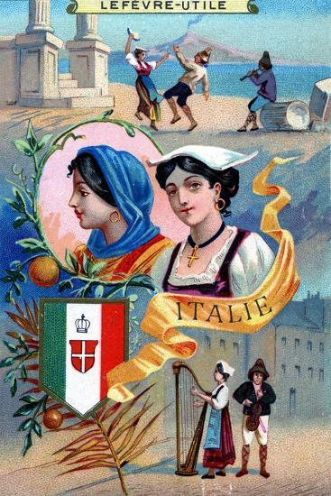 Italy, from a Series of Promotional Cards for Lefevre-Utile--Giclee Print