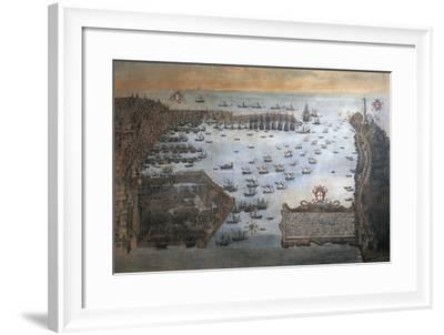 Italy, Genoa Harbor by Unknown Artist--Framed Giclee Print