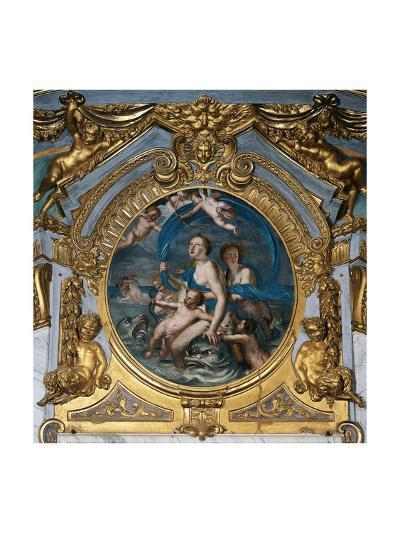 Italy, Genoa, Palazzo Spinola, Hall of Mirrors, Medallion Depicting the Triumph of Galatea--Giclee Print