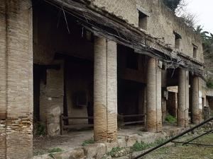 Italy, Herculaneum, House Next to the Forum, Ruins