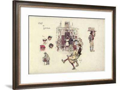Italy in London-Phil May-Framed Giclee Print