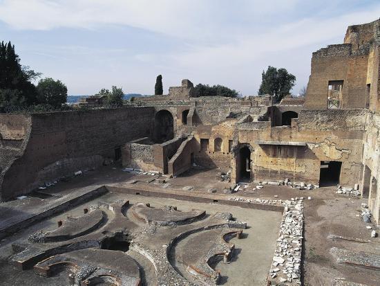 Italy, Latium Region, Rome, Palace of Domitian on Palatine Hill--Giclee Print