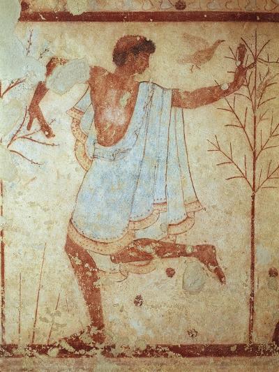 Italy, Latium Region, Tarquinia, Etruscan Necropolis, Tomb of Triclinium Depicting Dancer--Giclee Print
