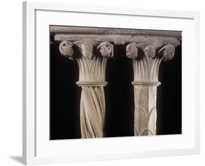 Italy, Lazio Region, Frosinone Province, Veroli, Cistercian Abbey of Casamari, Cloister, Detail--Framed Giclee Print