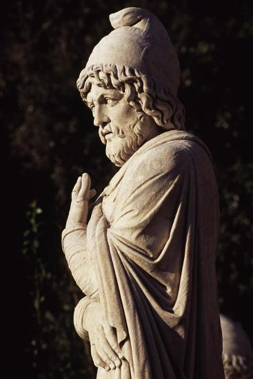 Italy, Lazio, Rome, Statue in Eastern Exedra of Piazza Del Popolo, Designed by Giuseppe Valadier--Giclee Print