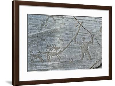 Italy, Lombardy Region, Camonica Valley, Naquane National Park, Camunian Rock Drawings--Framed Giclee Print