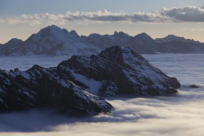 Italy, Lombardy, Stilfser Joch (Col) National Park, View of Monte Scorluzzo, Cresta Di Riding-Rainer Mirau-Photographic Print
