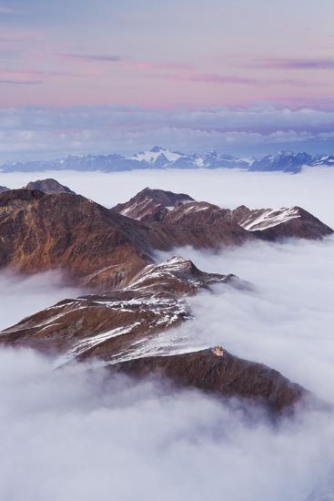 Italy, Lombardy, Stilfser Joch National Park, View from Monte Scorluzzo, Rifugio C. Garibaldi-Rainer Mirau-Photographic Print