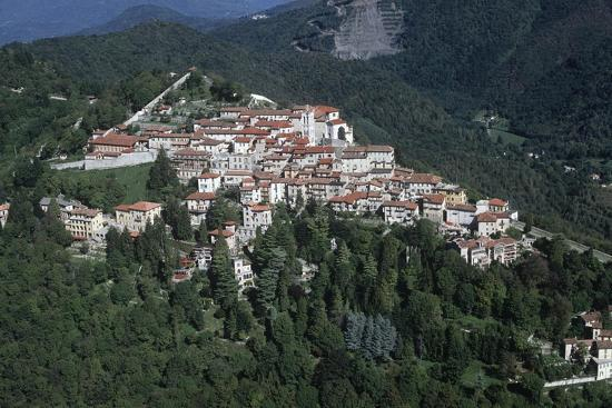 Italy, Lombardy, Varese, Sacro Monte, Aerial View--Giclee Print