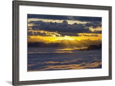Italy, Lombardy, View of Monte Scorluzzo in to the Direction Engadin-Rainer Mirau-Framed Photographic Print