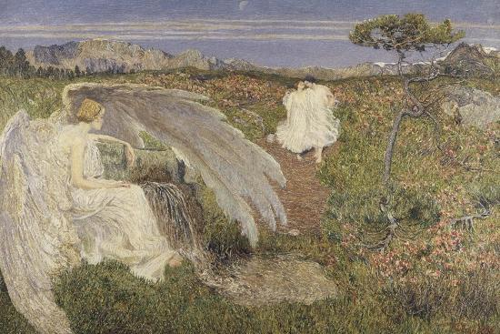 Italy, Love at the Fountain of Life, 1896--Giclee Print