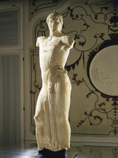 Italy, Marble Statue Representing Young Man, Found in Mothia--Giclee Print