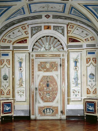 Italy, Masino Castle, Wooden Furniture, Painted in Tempera and Decorated with Rice Lozenges--Giclee Print