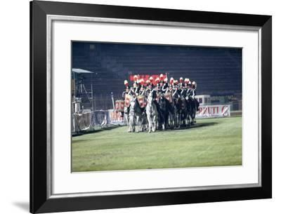Italy, Milan, Arena Civica, Carousel of Military Police--Framed Giclee Print