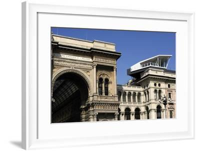 Italy, Milan, Bar Terrace Atop Building Near Vittorio Emanuele II Gallery--Framed Giclee Print