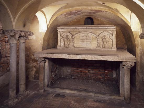 Italy, Milan, Basilica of Sant'Ambrogio, Ciel D'Oro, Oratory of San Vittore--Giclee Print