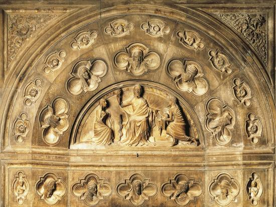 Italy, Milan Cathedral, Blessing Redeemer, Lunette from Above Entrance to Northern Sacristy--Giclee Print