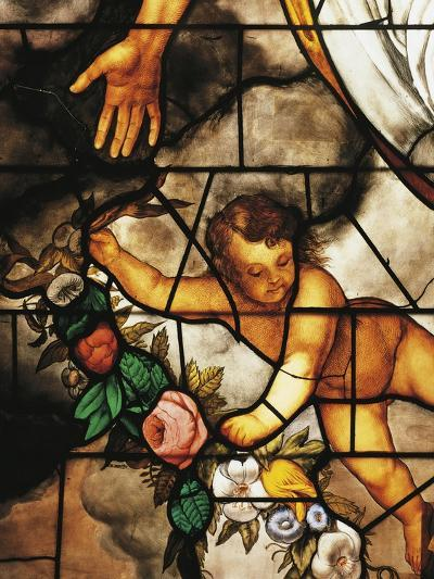 Italy, Milan Cathedral, Detail of Stained-Glass Window Depicting Stories of the Old Testament--Giclee Print