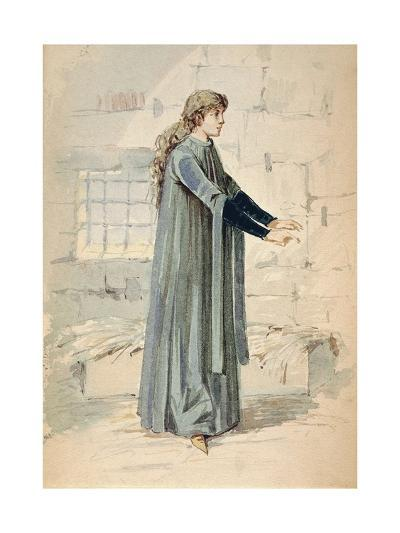 Italy, Milan, Costume Sketch for Margherita in Jail--Giclee Print