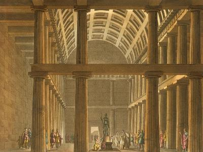 Italy, Milan, Ideal Reconstruction of Parthenon at Athens--Giclee Print