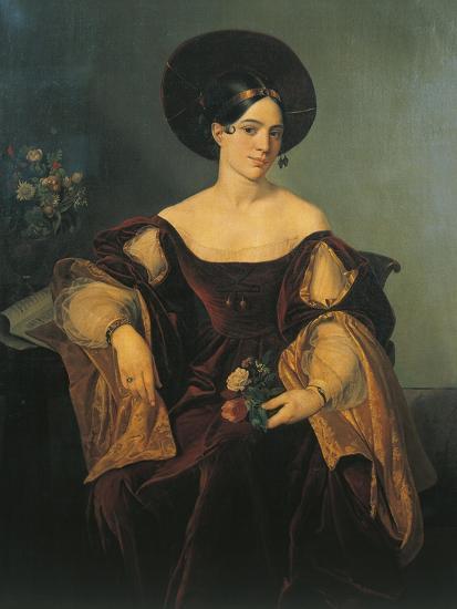 Italy, Milan, Portrait of French Mezzo-Soprano Maria Malibran--Giclee Print