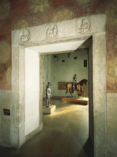 Italy, Milan, Sforza Castle, Colombine Hall, Detail from Door with Marble Reliefs--Giclee Print