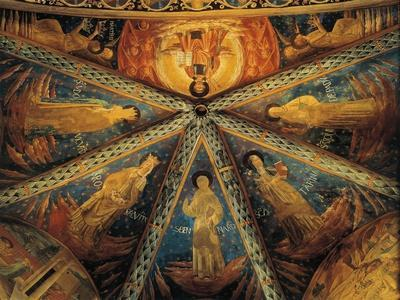 Italy, Montefalco, Vault of Apse of Church of Saint Francis Painted with Saints--Giclee Print