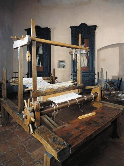 Italy, Morando Bolognini Castle, Hall of Weaving, Weaving Frame with Spinning Pedal--Giclee Print