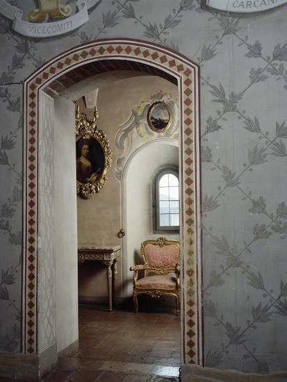 Italy, Morando Bolognini Castle, Mozza Tower, Throne Room with Entrance to Golden Salon--Giclee Print
