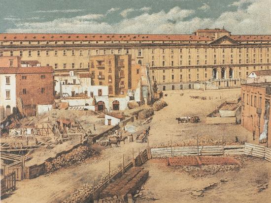 Italy, Naples, Albergo Dei Poveri--Giclee Print