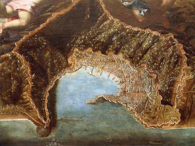 Italy, Naples, View of Genoa by Domenico Fiasella--Giclee Print