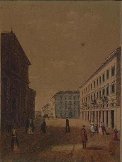 Italy, Novara, Piazza Statuto--Giclee Print