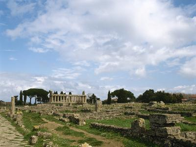 Italy, Paestum, Temple of Athena or Ceres--Photographic Print