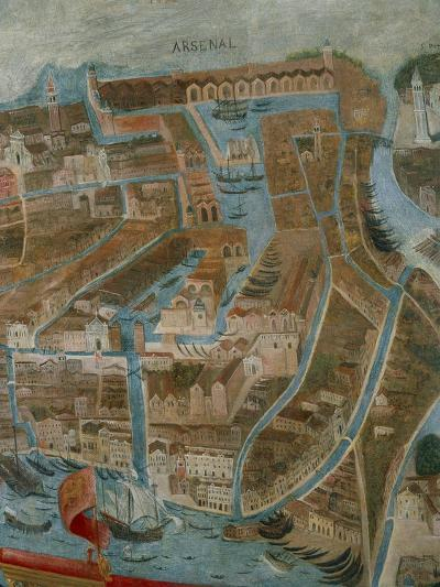 Italy, Perspective Map of Venice, Arsenal, Detail--Giclee Print
