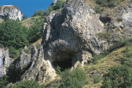 Italy, Piedmont Region, Stura Valley, Prehistoric Caves Near Aisone, Cuneo Province, Entrance--Giclee Print