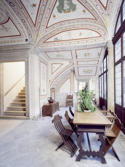 Italy, Piuro, Palazzo Vertemate Franchi, Bishop's Room Detail--Giclee Print