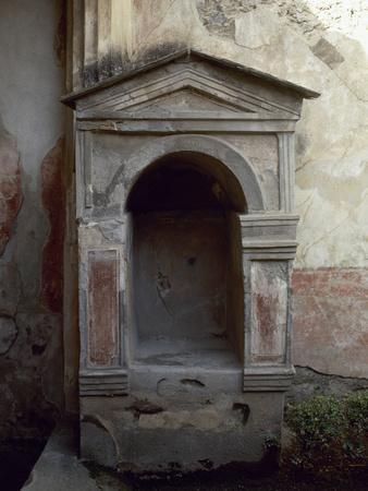 Italy, Pompeii, House of the Tragic Poet, Lararium--Photographic Print