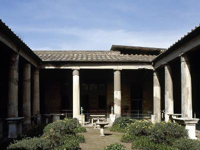 Italy, Pompeii, House of the Vettii, Reconstruction of the Peristyle--Photographic Print