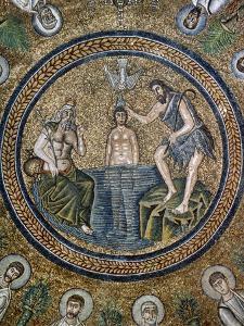Italy, Ravenna, Arian Baptistry, Mosaic, Baptism of Jesus, 6th Century