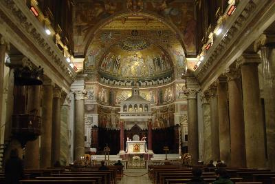 Italy. Rome. Basilica of Our Lady in Trastevere. Interior--Giclee Print