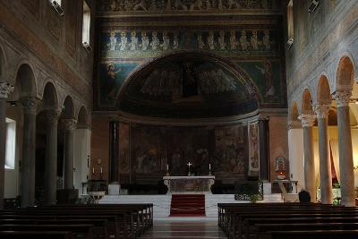 Italy. Rome. Basilica of Santa Maria in Domnica. Interior with the 9th Century Apse Mosaics--Photographic Print