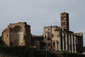 Italy. Rome. Church of St Frances of Rome (Santa Francesca Romana) and the Temple of Venus and…