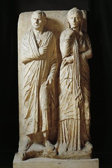 Italy, Rome, Funerary Stele from Via Statilia--Giclee Print