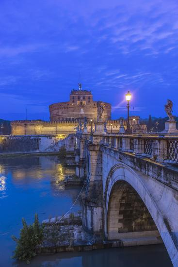 Italy, Rome, Ponte Sant'Angelo at Dawn, also Called St. Peters Bridge-Rob Tilley-Photographic Print