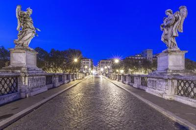 Italy, Rome, Ponte Sant'Angelo at Dawn-Rob Tilley-Photographic Print
