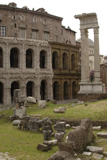 Italy, Rome, Theatre of Marcellus, 1st Century BC--Photographic Print