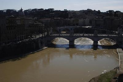 Italy. Rome. Tiber River from Castel Sant'Angelo--Giclee Print